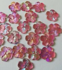 20pcs Resin Plum Flower 15mm FlatBack 2 Hole buttons Craft/scrapbooking/. Pink