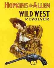 HOPKINS & ALLEN WILD WEST REVOLVER ADVERTISING POSTER