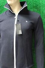 Men's Trendy Sub Seventy Navy Blue Zip Fleece Jacket Sub 70 New Full Zip Small