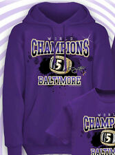 RAVENS 2013 CHAMPIONS HOODY JOE FLACCO Superbowl MVP #5 Ring DESTINY Small S