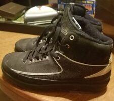 Jordan Retro 2 Black And Silver Size 6Y