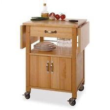 Rolling Kitchen Cart With Drop Leaf Small Wood Island Table Top Drawer Storage