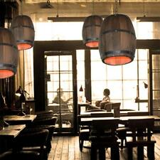 Retro Wood Wine Barrel Hanging Ceiling Lamp Lighting Restaurant Cafe Light G9W3
