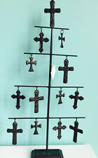 20 In H X 11 In W Brown Iron Christmas Tree Cross Decorations