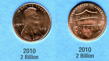 2010 P Abe Shield Memorial American Penny 1 Cent Us U.S America One Coin #B1