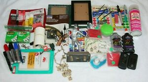 Junk Drawer Lot Pool Trophy Owl Necklace Phones Sharpies Picture Frames Office