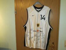 Dirk Nowitzki Trikot Basketball DBB Jersey Autogramm + Mitspieler Deutschland !!