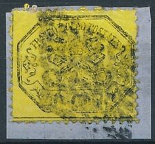 [39812] Papal states 1867 Good stamp on piece paper Very Fine used