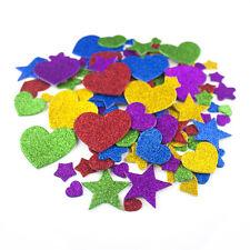 1000 Pcs Self Adhesive Glittered Foam Stickers Arts & Crafts Love Hearts Stars