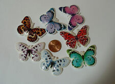 Puffy multi colors Butterflies Butterfly count 20 #29