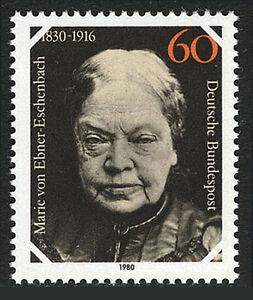 Germany 1336, MNH. Marie von Ebner-Eschenbach, writer, 1980