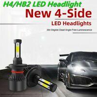 2PCS H4/HB2 LED Headlight 4-Side 2800W Hi-Low Beam lamps 280000LM Car 6000K JOY