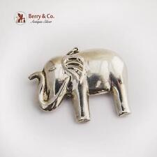 Vintage Elephant Christmas Ornament Pendant Sterling Silver