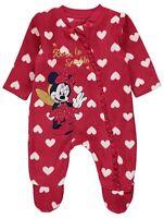 Baby Girls Disney Minnie Mouse Fleece Sleepsuit Fleece All-In-One 0-24 MONTHS