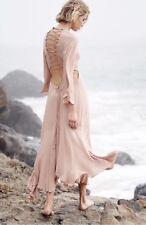 Free People Margarita Flamingo Natural Nude Dress Size S