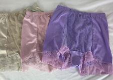 3 Rhonda Shear Retro Pin-Up Dot 12/14 Panty 4000 LARGE Tummy Control Lace Satiny