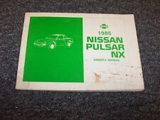 1985 Nissan Pulsar NX Coupe Original Owner Owner's Operator Guide Manual 1.6L