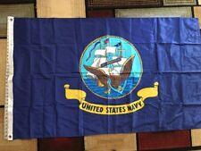 3x5 United States Navy Emblem Flag Usa Military Outdoor Banner Usn Pennant Flag