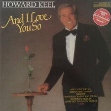 "12"" LP Howard Keel (Dallas) And I Love You So (So In Love, Memory) 80`s CBS"