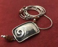 """Vintage Sterling Silver Necklace 925 Silpada Signed 16"""""""