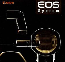 CANON EOS 35mm SLR CAMERA SYSTEM BROCHURE -1N-RS-A2-A2E-ELAN-REBEL-from 1990s