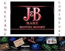 RARE PANNEAU PUB JB J&B J & B SCOTCH LED ENSEIGNE BAR CAFE LUMINEUSE NEON LAMPE