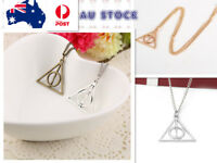 Harry Potter Deathly Hallows Charm Pendant Necklace  Silver , bronze, gold