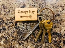 Personalised Engraved Wooden Key rings. Any Engraving. Any Image. Any Text