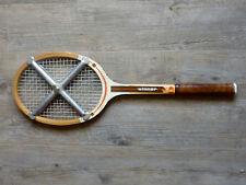 raquette en bois Donnay winner avec sa presse en aluminium Zephyr, vintage
