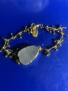 10 braclets mix of 24K Gold, Druzy w/Amethyst, Turquoise And Gold Chain Bracelet