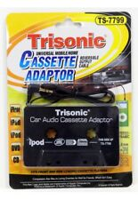 2 Pk - Trisonic Audio Car Cassette Tapeadapter 3.5 Mm For iPhone Ipod Mp3 Cd Aux
