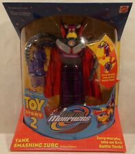 "Toy Story 2 Tank Smashing Zurg Movie 8"" Metal Morphers Deluxe Disney Pixar Matte"