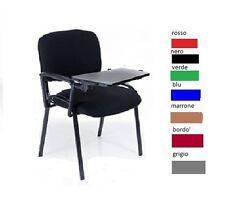 Sedia da Ufficio con Tavoletta NUOVA Conferenza Sala Attesa Riunione Convegni