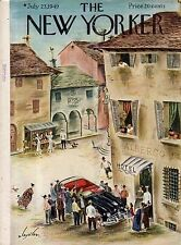 1949 New Yorker July 23 - A New Lincoln Convertible comes to town - Alajalov