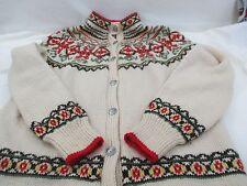 Vintage 1950's Hand Knit Norwegian Sweater, Thekla Julins Eftf, Lillehammer