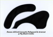 Ibanez AEG10ii Black 5-Ply Pickguard & Armrest Combo Acoustic Guitar Project NEW