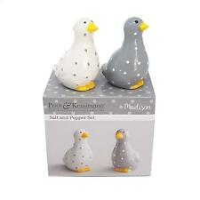 OFFICIAL LICENSED BOXED DUCK SPOT STONEWARE SALT PEPPER SHAKERS POTS CELLERS