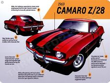 """1969 CHEVROLET CAMARO Z/28  9"""" x 12"""" Sign"""