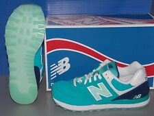 WOMENS NEW BALANCE WL 574 SLY in colors TEAL / ARCTIC BLUE / WHITE SIZE 6.5