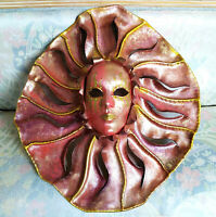 Sole Corolla - Maschera veneziana artigianale indossabile in cartapesta e cuoio