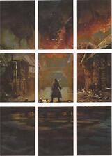 """The Hobbit Five Armies - """"Cryptonium Smaug"""" Puzzle Set of 9 Chase Cards #S1-S9"""