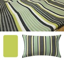"IKEA Ragnborg 16x26""Rectangle Pillow Stripe CHARCOAL Black White Gray Green Pea"