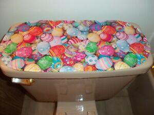 New Multi-Color Photo Real Easter Egg Pattern-Sm Table Runner-Toilet Tank Topper