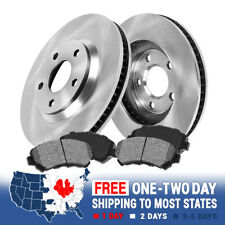 2 Front Quality 259mm OE Brake Rotors + 4 Metallic Pads For Buick Chevy Pontiac