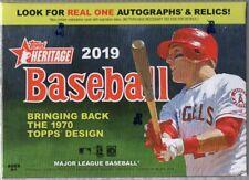 2019 Topps Heritage Baseball MLB Trading Cards 1-blaster 2-fat Pack Combo Set