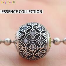 925 Sterling Silver Essence Collection COMPASSION Charm Clear CZ Bead F Bracelet