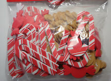 Christmas Holiday Foam Stickers Candy Canes Gingerbread Men 3D Embellishment 96p