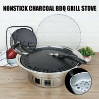 35cm Nonstick Charcoal BBQ Grill Korean Style Camping Fire Pit Steak Stove