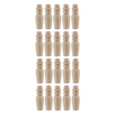 20pc Natural Unpainted Wooden Peg Doll Males Bodies Art Craft Kids Wood Toys