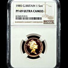 More details for 1985 queen elizabeth ii great britain gold proof sovereign ngc pf69 ucam